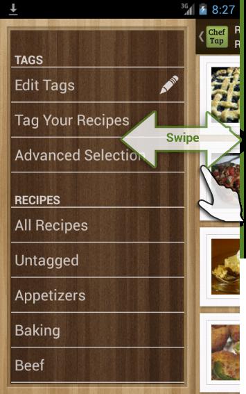 slideout menu